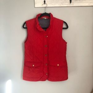 KENAR puffer style red vest